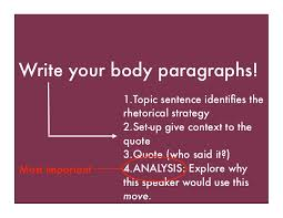 rhetorical analysis step by step write