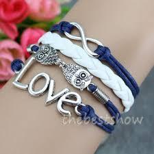 infinity love bracelet. owl infinity love bracelets charm friendship bracelet-gift | thebestshow on artfire bracelet t