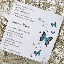 erfly wedding invitations