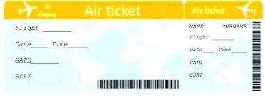 Blank Train Ticket Template Ibba Info