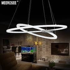 gorgeous circle chandelier light modern led chandelier light fixture led ring acrylic hanging lamp