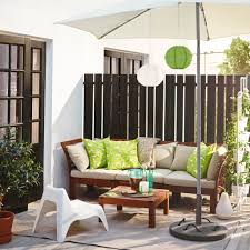 ... Comfortable Outdoor Chairs Patio Furniture For Small Balconies An  Umbrella With Lamp Decoration For ...