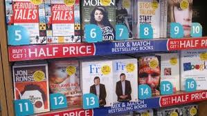 Wh Smith Paperback Chart On The Paperback Bestsellers Shelf In Wh Smith Heathrow