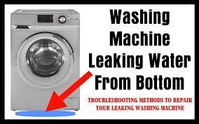 washing machine leaking water from