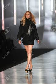 ZAGREB, CROATIA - MARCH 14 Fashion Model Wears Clothes Made.. Stock Photo,  Picture And Royalty Free Image. Image 18479778.