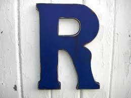 rustic wooden letter r admiral blue wall art big by lettersofwood on big letter wall art with wooden r letter shabby chic blue wall art by lettersofwood 25 00