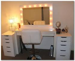 floor standing vanity mirror with lights