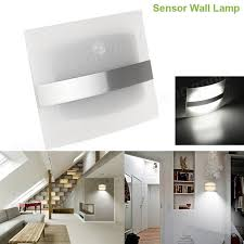 wireless closet lighting. wireless motion sensor led wall light battery operated indoor stair hallway closet bedside lamp lighting