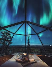 Glass Igloo Northern Lights Strange Unusual Places Finlands Luxury Igloos Allow You