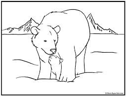 Small Picture Polar Bear Coloring Pages Print Color Craft