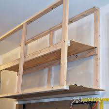 diy garage storage great idea for ceiling mounted shelves in the garage for better seasonal