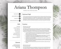 Classic, Professional Resume Template for Word and Pages (US Letter & A4) 1
