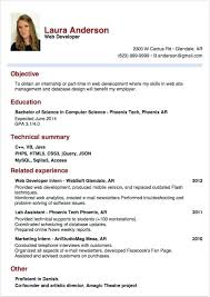 Sample Resume For Internship In Computer Science Loopycostumes Com