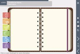 Notebook Templates Notebook With Variegated Tabs Storyline Template