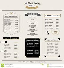 Restaurant Menus Layout Restaurant Menu Design Template Layout With Icons And Emblem