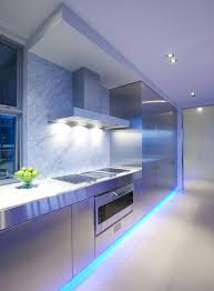 kitchen mood lighting. modern kitchen lighting using lumilum blue strip lights diy mood