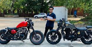 royal enfield motorcycles modified to