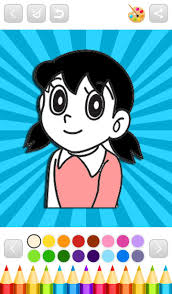 He has straight black hair and black eyes and big round glasses. Superhero Nobita Coloring Book For Android Apk Download