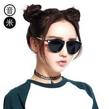 round hipster glasses sound meter classic sunglasses female tide retro polarized big box face bright frames