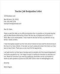 Resignation Letter For School Job - April.onthemarch.co