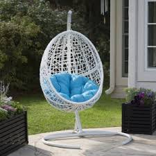 outdoor hanging furniture. Belham Living Resin Wicker Blanca Hanging Egg Chair With Cushion Color  Option And Stand Outdoor Hanging Furniture