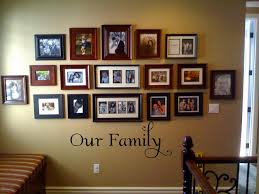 Something like this, but only black & white pics, no words on the wall