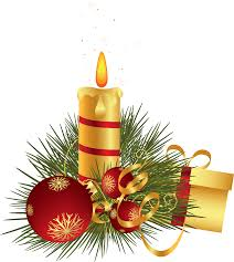 Christmas Candle Decoration Clipart | Gallery Yopriceville - High ...