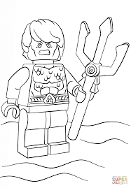 Small Picture LEGO Aquaman Coloring Page Printable Sheet And Pages esonme