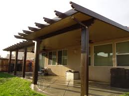 Spanish Tile Patio Cover Modern Patio Outdoor Attached Patio Cover