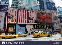 signage announces the arrival of the new mac cosmetics in times square in new york