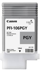 <b>PFI</b>-<b>106PGY</b> - Pigment <b>Photo Grey</b> Ink Tank 130ml for <b>Canon</b> ...