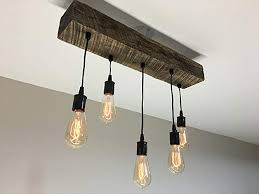 modern industrial lighting. Reclaimed Barn Timber Beam Light Fixture With Edison Bulbs - Rustic/Modern/Industrial Lighting Modern Industrial H