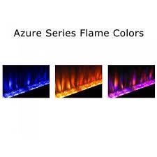 orange napoleon efl42s azure series wall mount built in electric fireplace custom colors