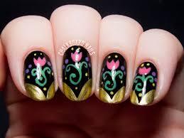Anna Inspired Frozen Nail Art | Anna, Disney nails and Disney ...