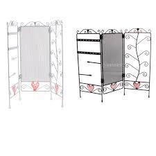 3 Panel Display Stand Custom Cute Pink Heart 32 Panel Folding Screen Jewelry Hanger Earrings