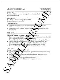 Example Of Simple Resume Format Sample Simple Resume Format Simple