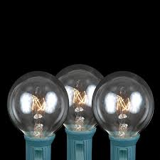 picture of 100 g40 globe string light set with clear bulbs on white wire