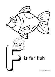 Letter F Coloring Pages Of Alphabet F Letter Words For Kids