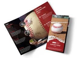 Baseball Brochure Template Baseball Sports Camp Tri Fold Brochure Template