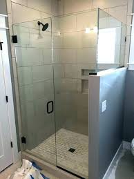 half wall shower glass installing with medium size of spaces traditional block kit pony no traditi