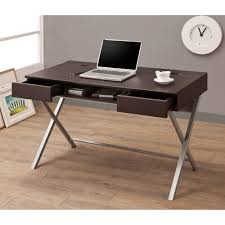 Second Hand Bedroom Furniture For Rectangle Oak Wood Double Computer Table In Light Brown Furnishing