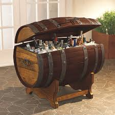 furniture: Simple Bottles Inside Wood Barrel Right For Diy Wine Barrel With  Green Tree On