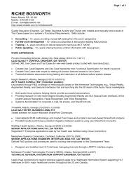R And D Test Engineer Sample Resume 22 Qa Cv 17 Ehr Trainer