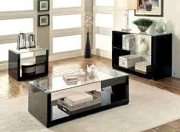 3 piece glass coffee table set combination
