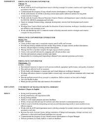 Copywriter Resume Imposing Sample Ad Copywriter Resume Template Free Fee Example 66