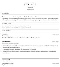 Esume Templates For Mac Quick Free Resume Builder