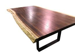 Live edge dining table, Live edge with steel flat legs, unique dining table,