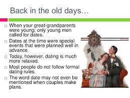 old time dating rules