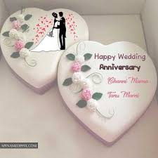 Wedding Anniversary Cake With Name Photos Edit Images Wedding