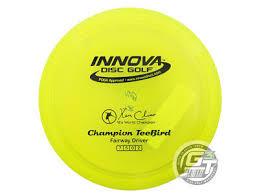 New Innova Champion Teebird 168g Yellow Black Stamp Fairway
